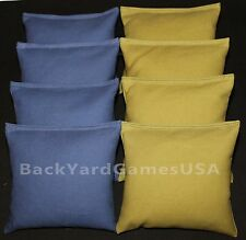 ALL WEATHER CORNHOLE BEAN BAGS Blue & Olive Resin Filled WATERPROOF