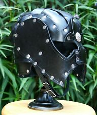 Leather Spectacle Helmet Fantasy Mask Armor SCA LARP Helm Medieval Cosplay