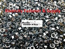 """(100) 5/16-18 Left Hand Thread Hex Nuts 5/16"""" x 18 With 1/2 Hex / Reverse Thread"""