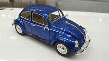 Volkswagen classiche Scarabeo 1967 blu kinsmart modello 1/24 scala diecast Big