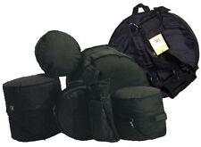 Guardian Well Padded Drum Set Kit Bags Cases 7 Piece Set W/Nice Cymbal Bag NEW!!