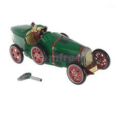 Wind up Roadster Racing Car racer driver clockwork tin Toy Collectible gift New
