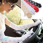 Women Lace Sun Block UV Protection Long Opera Evening Bridal Driving Gloves