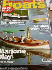 MODEL BOATS AUGUST 2009 SS NOGGSUND COASTER PLAN MARJORIE MAY SEAFRANCE BERLOIZ