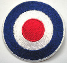 *Embroidered*Target iron on sew patch Mod Scooter RAF ROUNDEL the jam_