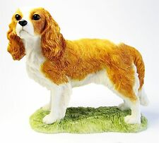 Cavalier King Charles Spaniel Dog Figurine on Base - Border Fine Arts (Blenheim)