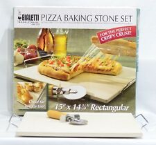 "Rectangular Pizza Baking Stone Set 15"" X14 1/4"" BIALETTI"
