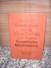 Sonderdruck für die DIDACTA 1985 zum Thema Sowjetische