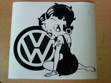 vw betty boop car sticker girls vinyl graphics decals beetle polo golf gift fun