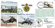 75th Anniv of the RAF Signed Gp Capt F B Sheen DFC Battle of Britain & WW11 Figh