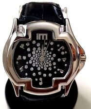 Ice Master BM1311 Men's Fashion Watch Silver Case & Dial Black Leather Band