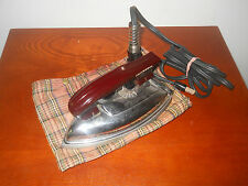 VINTAGE UNIVERSAL DRY IRON~NO. 1675~ LANDERS , FRARY & CLARK~ WOOD HANDLE~ CORD