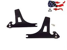 BLACK DETACHABLE SIDEPLATES HARLEY DYNA BACKREST QUICK RELEASE LOW RIDER 2006-16