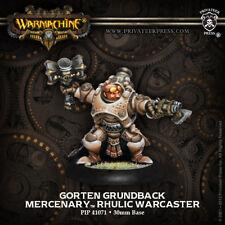 Warmachine: Mercenaries Gorten Grundback Rhulic Warcaster PIP 41071 NEW