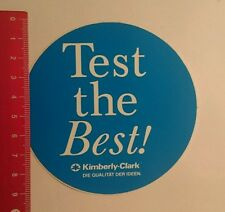 Aufkleber/Sticker: Kimberly Clark test the Best (270716181)