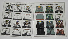 Custom 24 stickers german soldiers 2 sets - winter ss + set 3 - size- lego torso