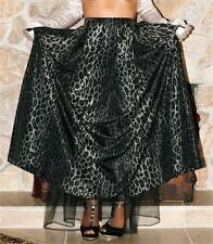 XL LONG FORMAL SWEEPING LEOPARD VINTAGE STYLE DANCE SLIP SKIRT