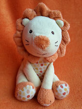 """Marks and Spencer M&S Yellow Lion soft toy baby comforter Spotty 8"""" RARE!"""