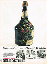 "PUBLICITE ADVERTISING 084  1961  BENEDICTINE  liqueur  "" LE BOUQUET"""