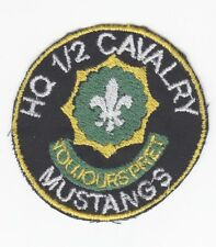 Army Patch:  HQ Troop, 1st Squadron, 2nd Cavalry - theater made