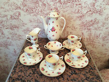 VINTAGE Cream e Rose Royal Doulton Caffè Set circa 1932 ART DECO periodo
