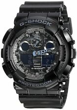 Casio G Shock Analog Digital Dial Black Resin Mens Watch GA100CF-1A