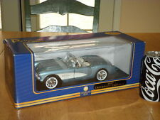 1957 CHEVY CORVETTE, SPORT CAR,  DIECAST METAL BODY - Model Car Toy, Scale 1/18
