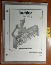 Buhler #960 960 Snowblower Snow Blower Owner Operator & Parts Manual FK315 5/01