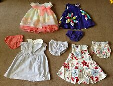 12PC. LOT 6-12M GIRL'S MIX BRAND DRESSES & COATS (TOMMY HILFIGER,CARTER'S,ETC..)