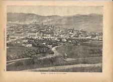 Stampa antica TERAMO veduta panoramica ABRUZZO 1891 Old antique print