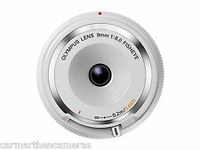 Olympus 9mm 1:8.0 Fish Eye Body Cap Lens - White
