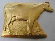 Raw Brass Cow Jewelry Findings 1/2 dozen - 6 pieces
