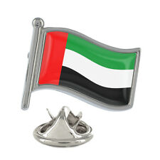 United Arab Emirates Wavy Flag Pin Badge UAE Abu Dhabi Dubai New & Exclusive
