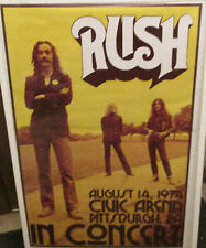 RUSH POSTER ALT METAL RARE OOP 2013 CANADIAN ROCK LEGENDS 1974 IN CONCERT