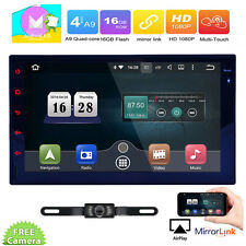 7'' HD Android 6.0 Double 2Din Car Head Unit Stereo Radio GPS Wifi 4G OBD2 ML BT