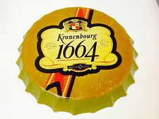 KRONENBOURG 1664 Beer Man Cave  Bar Pub Tavern Wall Decor Vintage Sign Tin Plate