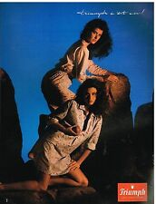 Publicité Advertising 1988 Lingerie pyjama et nuisette Triumph