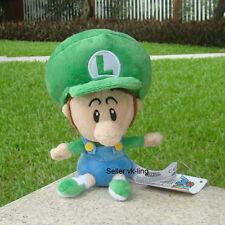 "Nintendo Super Mario Bros Run Baby Luigi Plush Toy Cuddly Stuffed Animal Doll 6"""