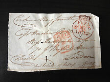 9th LORD JOHN COLVILLE - ROYAL NAVAL ADMIRAL - SIGNED ENVELOPE FRONT 1822