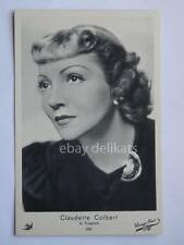 ELAH Warner Bros. CLAUDETTE COLBERT cinema vecchia cartolina old post card