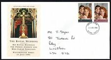 FDC - GB - 1986 ROYAL WEDDING,  PRINCE ANDREW & SARAH FERGUSON, FIRST DAY COVER