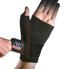 BLACK NEOPRENE ADJUSTABLE WRIST THUMB HAND SUPPORT SPLINT BRACE SLEEVE ARTHRITIS