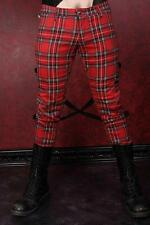 Tripp Chaos Bondage Red Plaid Mens Guys Gothic Alternative Punk Size 30 Pants