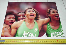 PHOTO 1992 JEUX OLYMPIQUES BARCELONE NIGERIA FEMMES 4 X 100 M BARCELONA 92
