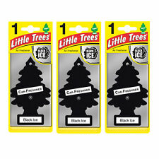 3 x Magic Tree Little Trees Car Home Air Freshener Freshner Scent - BLACK ICE