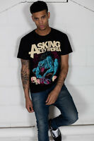 Official Asking Alexandria Gargoyle Unisex T-Shirt Flag Eater Black Shadow Band