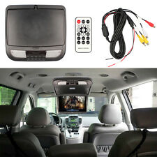 13.3 Inch Flip Down TFT LCD Monitor Car Roof Mount Monitors with LED LightBlack