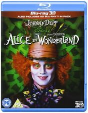 Alice in Wonderland 3D (3D + 2D Blu-ray, 2 Discs, Region Free) *NEW/SEALED*