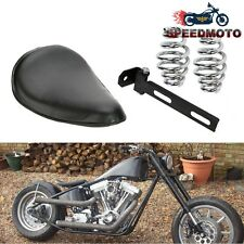 "12"" Leather Motorcycle Sportster Chopper Bobber Custom SOLO Spring Bracket Seat"
