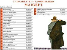 OPERA COMPLETA IN 30 LIBRI LE INCHIESTE DEL COMMISSARIO MAIGRET CORRIERE GIALLI
